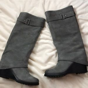 23bb573c3a9ee New Sorel After Hours Tall Wedge Boots gray